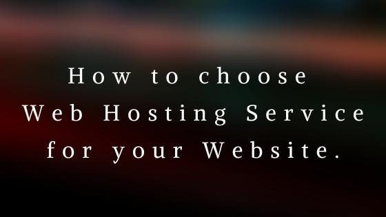 Find a web Hosting for Website