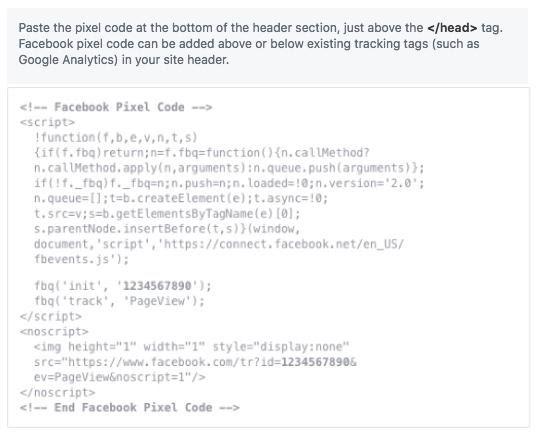 Facebook Pixel ID Code