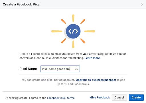 Name a Facebook Pixel